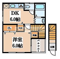 浅香山ハウス[2階]の間取り
