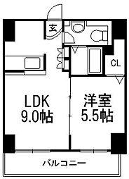 AMSタワー中島[205号室]の間取り