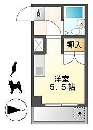 コスモ川名[4階]の間取り