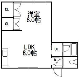 北海道札幌市豊平区月寒東三条3丁目の賃貸マンションの間取り