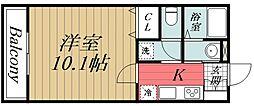 千葉県千葉市中央区新宿1丁目の賃貸アパートの間取り