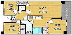 セルヴェール[4階]の間取り
