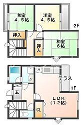 [テラスハウス] 兵庫県神戸市西区伊川谷町潤和 の賃貸【/】の間取り