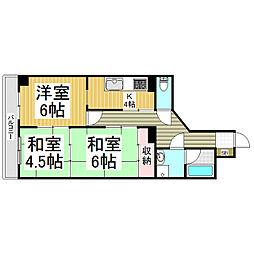 ダイアパレス長野大通りII[2階]の間取り