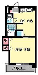フロ−ラ5[106号室]の間取り