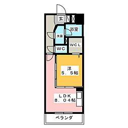 ロイヤルピジョン岩塚[9階]の間取り
