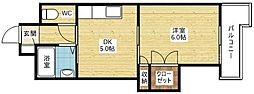 ローズコーポ新大阪7[1階]の間取り