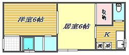 コーポ町田[1階]の間取り