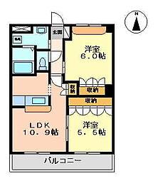 リビュール[2階]の間取り