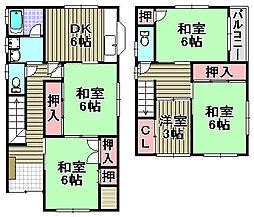 [一戸建] 大阪府貝塚市加神1丁目 の賃貸【/】の間取り