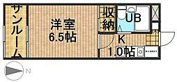 上島ロイドアパートB棟[2階]の間取り