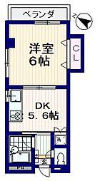 メゾンK&M[3階]の間取り