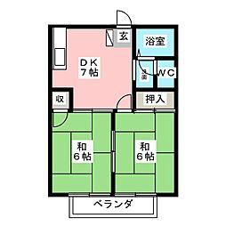ハイツアミューズ[2階]の間取り