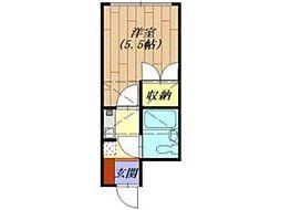 フラット相模[2階]の間取り