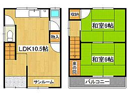 [一戸建] 兵庫県神戸市垂水区星が丘3丁目 の賃貸【兵庫県/神戸市垂水区】の間取り