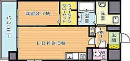 グランドハイツ黒崎[2階]の間取り