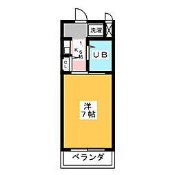 ガウディ桜井本町[2階]の間取り
