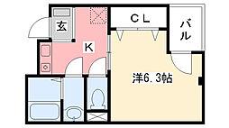トップシードOKADA[302号室]の間取り