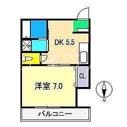 コーポエレガンス[2階]の間取り