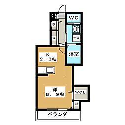 ラ・フレーシュ・E[2階]の間取り