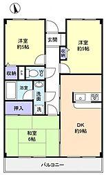 グリーンハイツ稲垣II[3階]の間取り