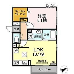 仮)D-room溝の口[101号室]の間取り