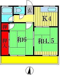 メゾン八ヶ崎B[1階]の間取り