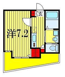 Classy津田沼II 1階1Kの間取り