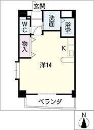 yarakuIII 4階ワンルームの間取り