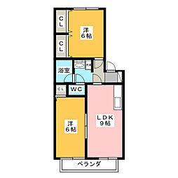 メゾンスズラン[2階]の間取り