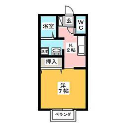 プリシェールSY[1階]の間取り