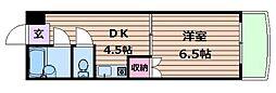 シャンクレール南堀江[8階]の間取り