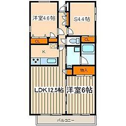 イースト カーサ[3階]の間取り