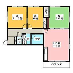 アオキハウス[2階]の間取り