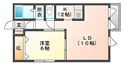 ルミエールFIII[1階]の間取り