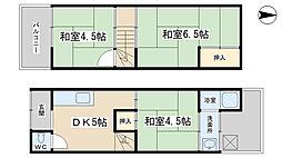 [一戸建] 京都府京都市山科区西野小柳町 の賃貸【/】の間取り