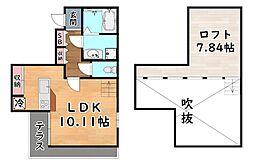 阪急神戸本線 六甲駅 徒歩3分の賃貸アパート 1階ワンルームの間取り