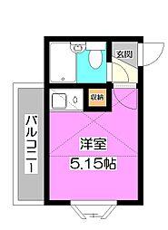 埼玉県新座市新堀1の賃貸アパートの間取り