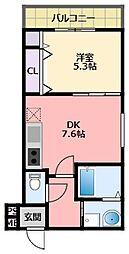 阪神本線 武庫川駅 徒歩11分の賃貸アパート 1階1DKの間取り