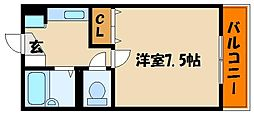 ジュネス・フォーション[2階]の間取り