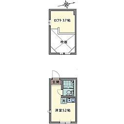 ルシェン和田町[0202号室]の間取り