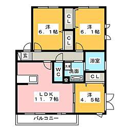 静岡県浜松市中区南浅田2丁目の賃貸アパートの間取り