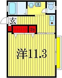 コトー谷津[2階]の間取り