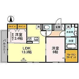 Maison du espoir(メゾン ド エスポワール) 2階2LDKの間取り