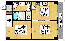 ボン・シェール堺[11階]の間取り