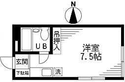 東京都狛江市東野川4丁目の賃貸アパートの間取り
