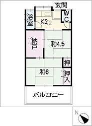 姥子荘B[2階]の間取り