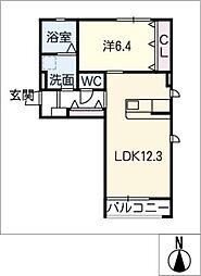 エルヴィータ[2階]の間取り