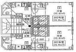 新築 シックス新宿(賃料下がりました)[101号室号室]の間取り