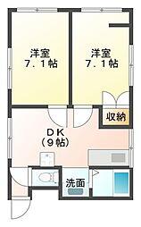 共栄マンション[4階]の間取り